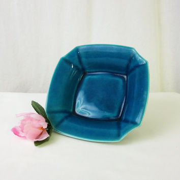 Persian Blue Bowl by Robertson Hollywood, Vintage California Pottery, Crackle Glaze