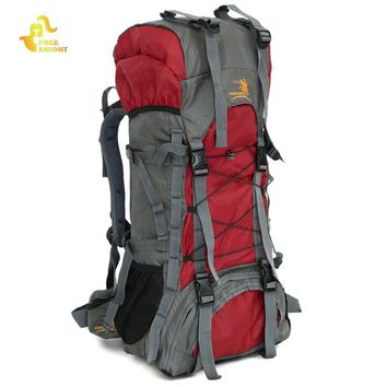 Free Knight brand Adult 60L Internal Frame Backpack .. New