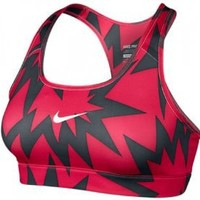NIKE Pro Printed Ladies Sports Bra, Fuchsia, [S] Small