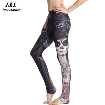 Funny Girl Printing Compression Pants Women Sporting Leggings Fitness New 3D Legging 15 Styles Elastic Workout Clothes For Women