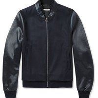 Paul Smith - Satin-Panelled Wool-Twill Bomber Jacket | MR PORTER