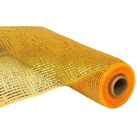 Metallic Decor Mesh Wrap Wide Foil for Wreaths, 10-inch, 10-yard