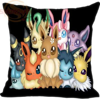 New Eevee Pillowcase Wedding Decorative Pillow Case Customize Gift For Pillow Cover 35X35cm,40X40cm(One Sides)