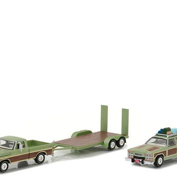 1972 Ford F100 Pickup Wagon Queen Family Truckster Flatbed 1:64 Diecast