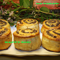 Vegan amazing poppy seed rolls with walnuts, buns, love,natural and healthy ingredients,birthday,wedding.