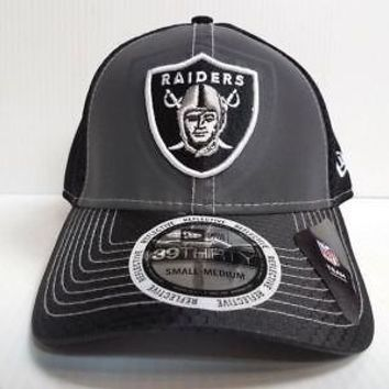 Oakland Raiders Hat New Era 39Thirty NFL Flashed Front Neo 2 Fitted Gray