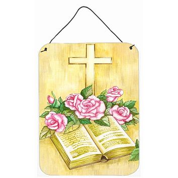 Easter Cross and Bible with Roses Wall or Door Hanging Prints APH4072DS1216
