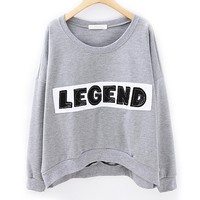 ZLYC Embroidery LEGEND Casual Sweatshirt for Girls
