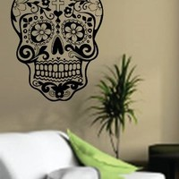 Dabbledown Decals Sugarskull Wall Vinyl Decal Sticker Art Graphic Sticker Sugar Skull