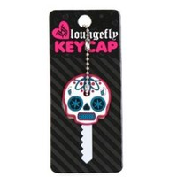 Loungefly White Sugar Skull Key Cap Garage Key Chains at Broken Cherry