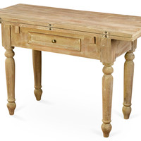 Rae Folding Table, Natural, Console Table