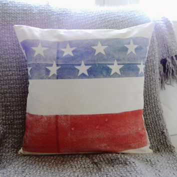 Grand Ol' Flag 16 x 16 Pillow Cover, Military, patriotic, present, houswarming gift, 4th of July, America