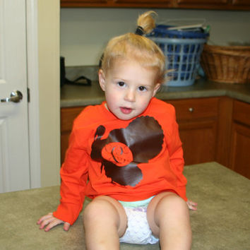 Personalized Turkey Toddler Shirt - Vinyl - Heat Pressed - Long Sleeve