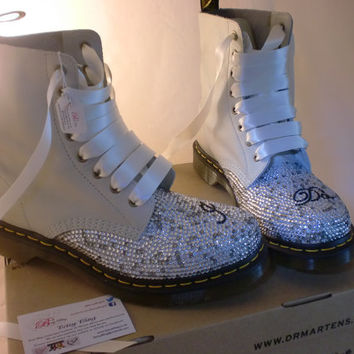 Wedding Dr Martens, Custom crystal Dr Martens