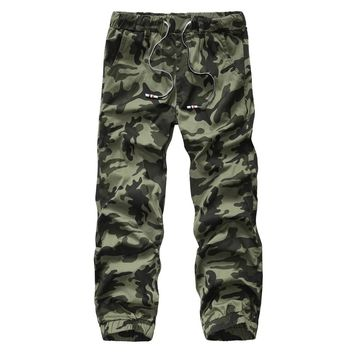 Camo Joggers foe Men Printed Camouflage military trousers 2016 New Fashion Waist Drawstring Elastic Waist jeans Cargo pants