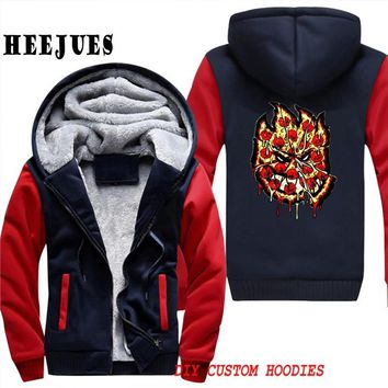 SPITFIRE WHEELS Hoodies Anime Men Skateboard Hoodie Printed Velvet Warm Men Fleece  Sweatshirt Brand JacketKawaii Pokemon go  AT_89_9