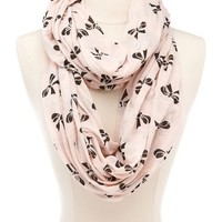 Dainty Bow Infinity Scarf: Charlotte Russe