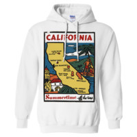 Vintage State Sticker California Sweatshirt Hoodie