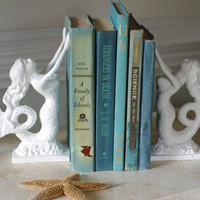 Beach Decor Cast Iron Mermaid Bookend or by ByTheSeashoreDecor
