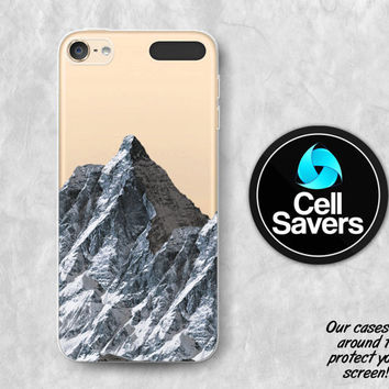 Mountain iPod 5 Case iPod 6 Case iPod 5th Generation iPod 6th Generation Rubber Case Gen Mountain Snow Nature Tumblr Inspired Rock Cool
