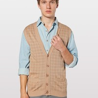 rsakwv1 - Knit Long Grid Vest