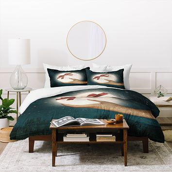 Belle13 For You The Moon Duvet Cover