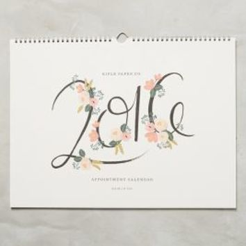Rifle Paper Co. 2016 Appointment Calendar in White Size: One Size House & Home