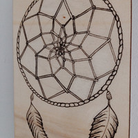 Dream Catcher Illustration on Wood