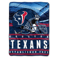 Houston Texans NFL Silk Touch Throw (Stacked Series) (60inx80in)