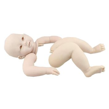 Handmade Doll Parts Soft Reborn Babies Kits DIY Baby Doll Accessories Head And 3/4Limbs For 28 inches Baby Dolls