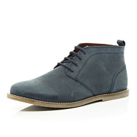 River Island MensBlue lace up chukka boots