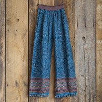 Large/Extra  Large  Turquoise  &  Navy  Print  Lounge  Pants  From  Natural  Life