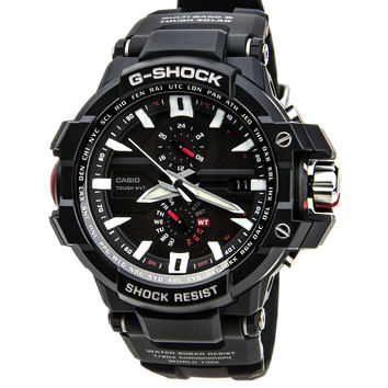 Casio GWA1000-1A Men's G-Shock Tough Solar Chronograph Atomic Thermometer Resin Dive Watch