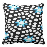 Points of light Starry Spotted Abstract Outdoor Pillow