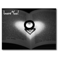 Love Ring and Shadow Heart Postcard