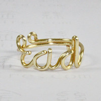 RAD ring, gold wire