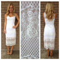 White Lace Maxi Cover Up
