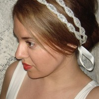 Double Athena Silver Headband/Halo Tie on halo by Luciabella1