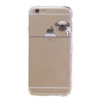 "BJS iPhone 6s Case, Cute Pet Dog Pattern Super Thin Soft Case Slim Fit for Apple iPhone 6s (2015) / iPhone 6(2014) 4.7"" with Screen Protector and Stylus(Pug)"