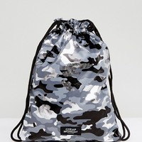 Cheap Monday Camo Print Drawstring Bag at asos.com