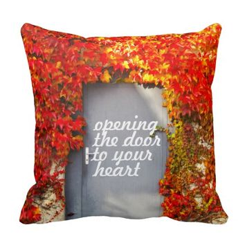 Opening the Door to Your Heart Throw Pillow