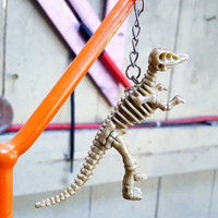 Keychain Dinosaur Skeleton Hadosaurid Fossil Natural History Paleontology Gift Stocking Stuffer