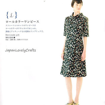 Hand Sewn Classic Dress Pattern, Japanese Sewing Pattern Book for Women Clothing - Easy Sewing Tutorial for Women, Emiko Takahashi, B1577