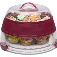 Prepworks by Progressive Collapsible Cupcake and Cake Carrier - Red