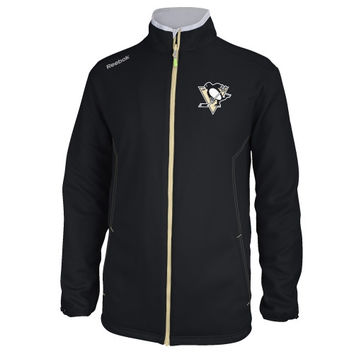 Pittsburgh Penguins Reebok 2014 Center Ice Warm-Up Jacket – Black
