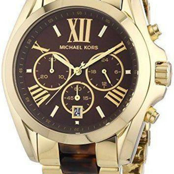 NOVO5 Michael Kors MK5696 Bradshaw Gold Bracelet Brown Dial Ladies Watch