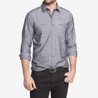 FITTED CHAMBRAY SHIRT