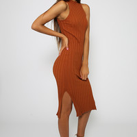 Secret Song Dress - Brown