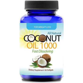 Totally Products Organic Virgin Coconut Oil Softgels (60 Count) - break down fat and boost energy levels