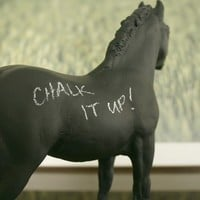 The Original Chalk Board Horse Ethelred by HoundstoothDesign